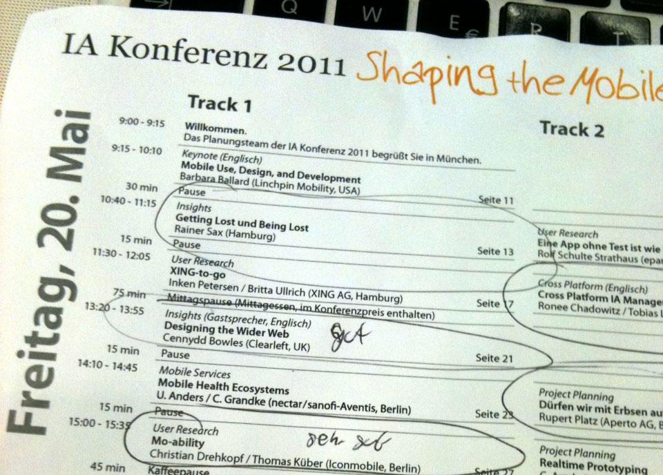 IA Konferenz 2011 – Tag 1