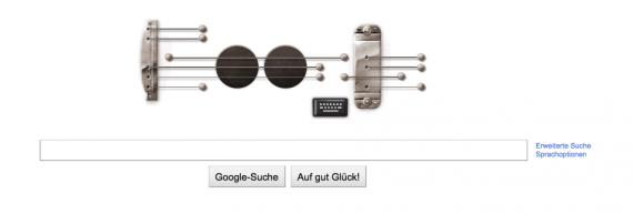 Google Doodle for Les Paul