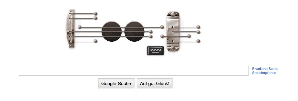 Tootle while you can. Googles birthday present for Les Paul.