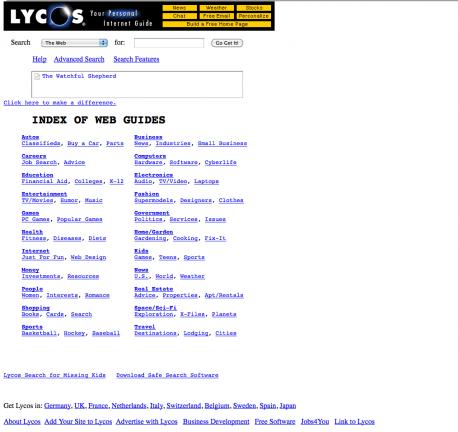 Lycos 1999