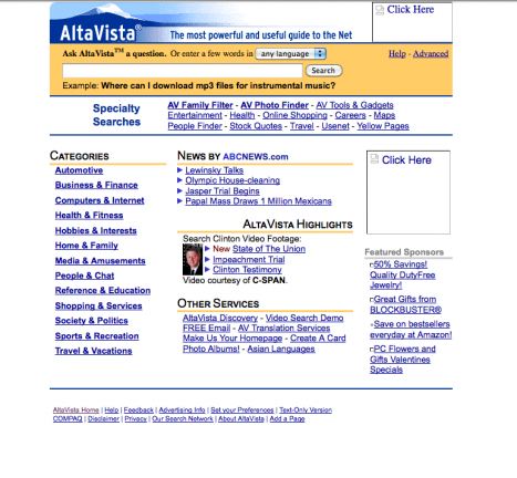 Altavista 1999
