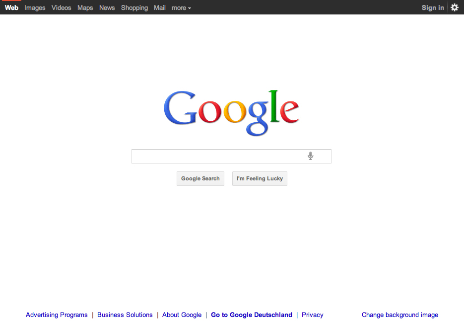 The interface is the brand. The evolution of the Google (brand) design.