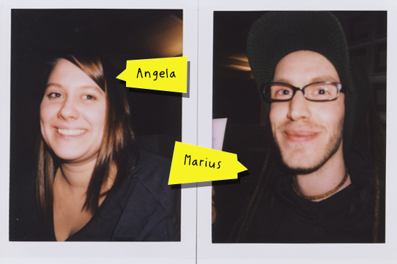 Brand new interns … Angela und Marius!