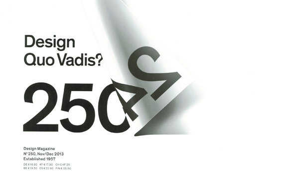 Design – Quo Vadis? Statement von Marco Spies in der 'form'.
