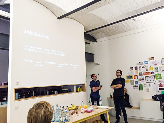 Die Job Story Writing Class bei think moto